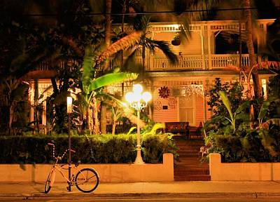 Paradise Photograph - Night Over Key West  by Nicole Huebscher