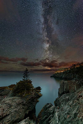 Quoddy Photograph - Night Over Quoddy Channel by Michael Blanchette