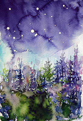 Night Over The Forest Art Print