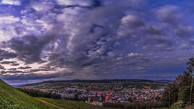 Photograph - Night Over Town Panorama by Julis Simo