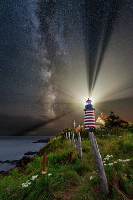 Photograph - Night Over West Quoddy by Michael Blanchette