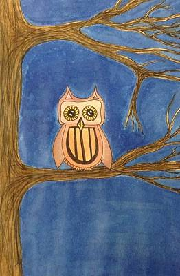 Night Owl Mixed Media - Night Owl by Alicia Schroeder