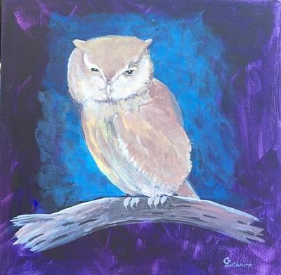 Painting - Night Owl by Christine Lathrop