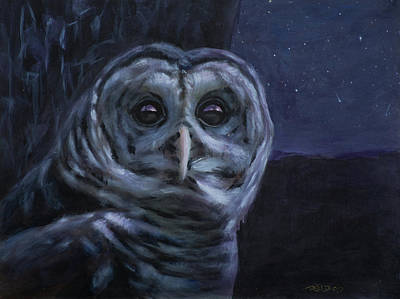 Nocturnal Animals Painting - Night Owl by Christopher Reid