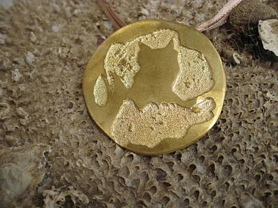 Brass Etched Jewelry - Night Owl Pendant by Aliki Filis