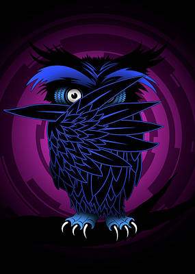 Cartton Digital Art - Night Owl by Pharaoh Laboa