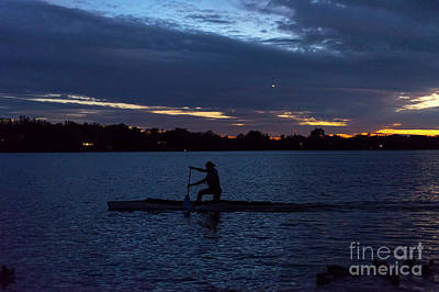 Photograph - Night Paddler by Les Palenik