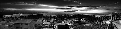 Photograph - Night Panorama Of Cuenca, Ecuador Iv by Al Bourassa