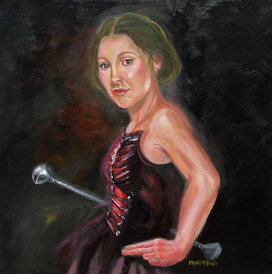Painting - Night Parade Majorette by Phyllis Beiser