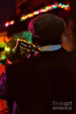 Photograph - Night Parade Musician - Nola Mardi Gras by Kathleen K Parker