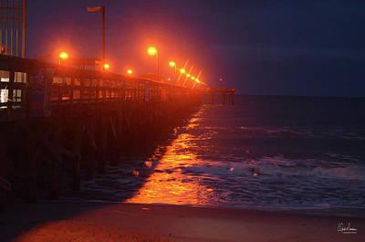 Photograph - Night Pier by Gordon Mooneyhan