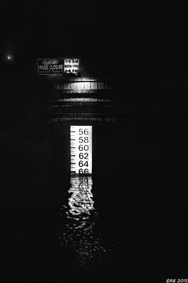Photograph - Night Piling Bw by Richard Bean