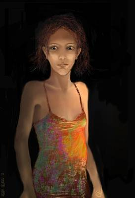 Digital Art - Night Portrait No 5 by Kerry Beverly