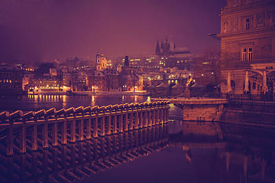 Photograph - Night Prague by Jenny Rainbow