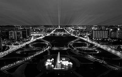Photograph - Night Radiance Of The Black City by ISAW Gallery