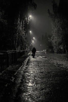 Photograph - Night Rain And Alone by John Williams