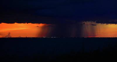 Photograph - Night Rain by David Lee Thompson