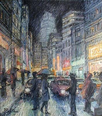 Night Rain Art Print by Henry Potwin