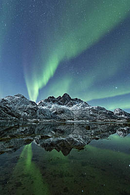 Photograph - Night Reflections by Frank Olsen