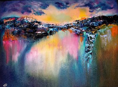 Painting - Night Reflections by Kim Shuckhart Gunns