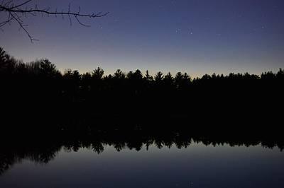 Night Reflects On The Pond Art Print
