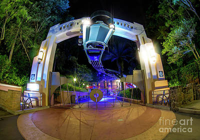Photograph - Night Ride On The Rock And Roll Coaster by Luis Garcia