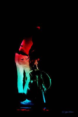 Digital Art - Night Rides - The Neon Ride No.1 by Serge Averbukh