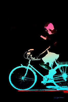 Digital Art - Night Rides - The Neon Ride No.4 by Serge Averbukh