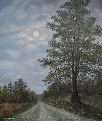 Painting - Night Road by Kathleen McDermott