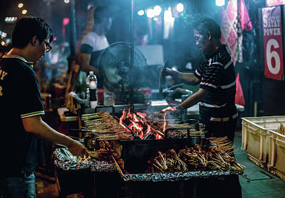 Photograph - Night Satay  by Nisah Cheatham
