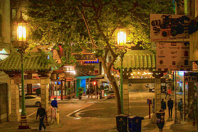 Photograph - Night Scene Leaving Chinatown by Bonnie Follett