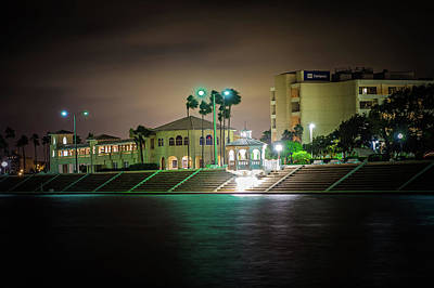 Photograph - Night Scenes Around Corpus Christi Texas by Alex Grichenko