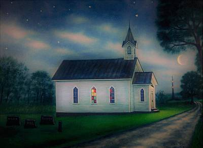 Nightlight Painting - Night Services by Charles Hill