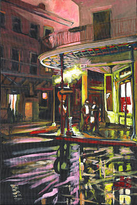 Art Print featuring the painting Night Shift by Amzie Adams