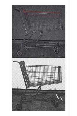 Photograph - Night Shopping Cart And Day Shopping Cart by Stan  Magnan