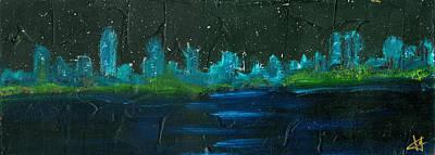 Night Shore Art Print by Jorge Delara