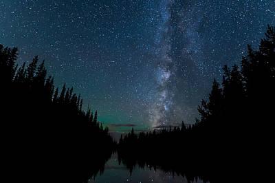 Night Skies Over Lake Irene Art Print