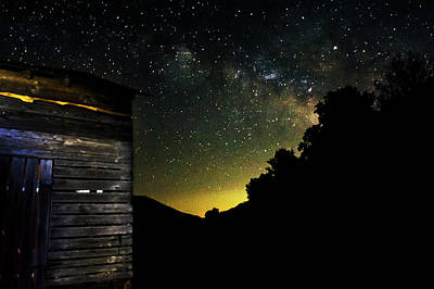 Stars Photograph - Night Sky At The Barn by Greg Mimbs