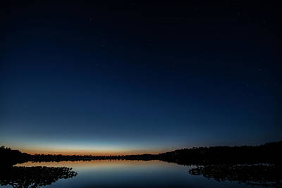 Photograph - Night Sky At The Lake With Big Dipper by David Arment