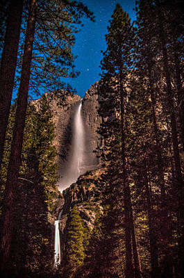 Photograph - Night Sky At Yosemite Falls by Connie Cooper-Edwards