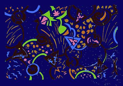 Mixed Media - Night Sky by Barbara Jacobs