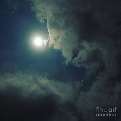 Photograph - Looking At The Moon by Karen Nicholson
