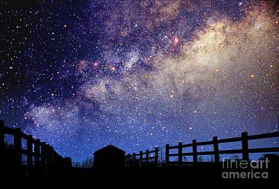 Night Sky Print by Larry Landolfi and Photo Researchers