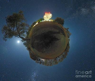 Moonlit Night Photograph - Night Sky Over Parkes Observatory by Alex Cherney Terrastro
