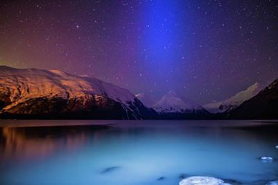 Photograph - Night Sky Over Portage Lake by Matt Skinner