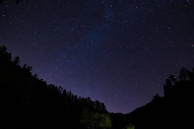 Photograph - Night Sky Over The Black Hills by Heidi Hermes
