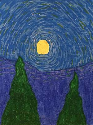 Drawing - Night Sky by Samantha L