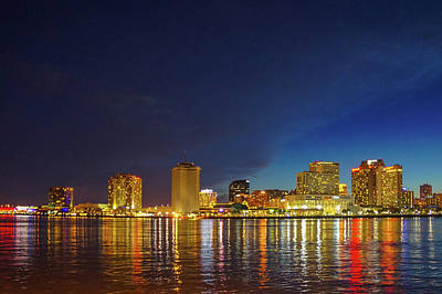American Photograph -  Night Skyline Of New Orleans by Art Spectrum