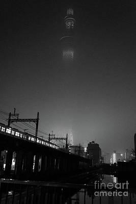 Photograph - Night Skytree, Asakusa Tokyo, Japan by Perry Rodriguez