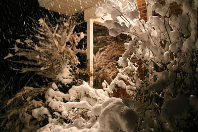 Photograph - Night Snow Horizontal by Kathryn Meyer
